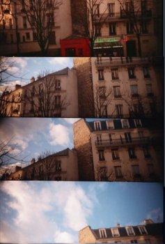 photo lomographie, Cordonnerie rouge de la rue bobillot, erreur de dossier