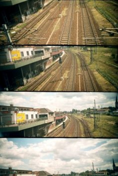 photo lomographie, Le train, de Berlin � Haffelberg