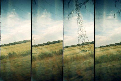 photo lomographie, la lumiere de Sandau, sur la route
