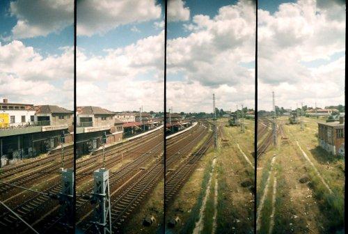 photo lomographie, Le train, de Berlin � Haffelberg