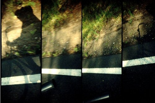 photo lomographie, Velo sur les routes de l'Elbe